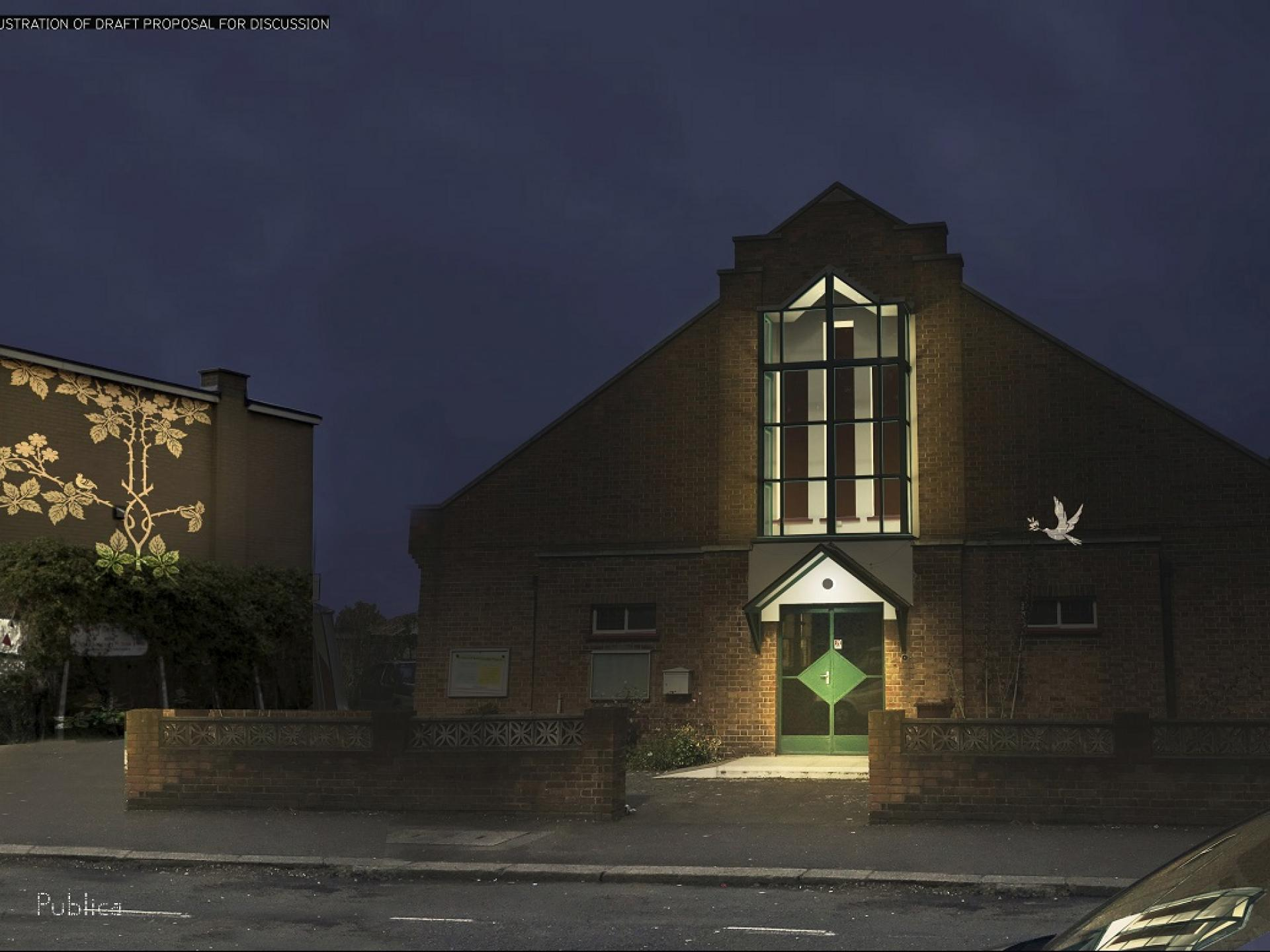 Visualisation of projected graphics and architectural lighting