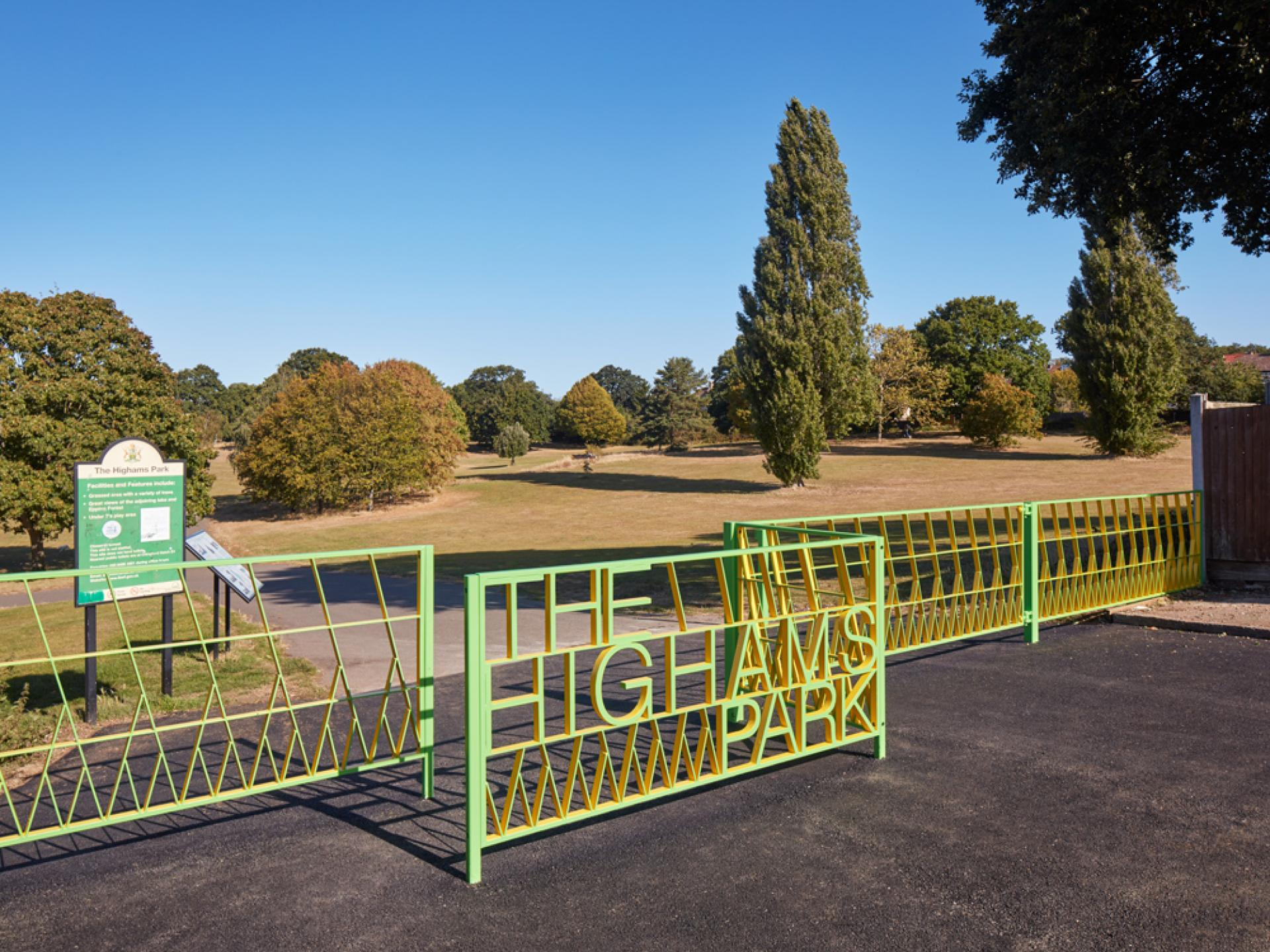 Highams Park Gates finished